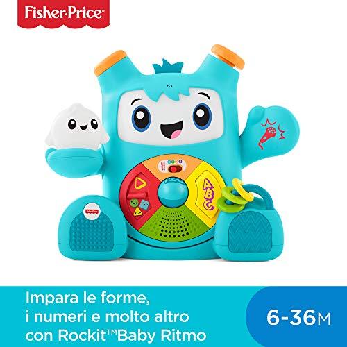 Fisher-Price- Rockit Baby Ritmo, Giocattolo Elettronico Educativo per Bambini dai 6 Mesi, con Musica e Suoni (Versione Italiana), FXD04
