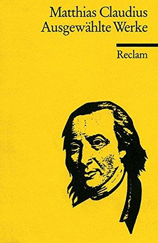 Ausgewählte Werke (Reclams Universal-Bibliothek)