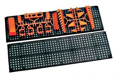 Werkzeugwand mit 19 teiligem Werkzeugbefestigungsset, Länge 80 cm x Breite 48 cm - beliebig erweiterbar - 2