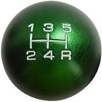 VMS Racing 10x1.5mm Thread 5 Speed Shift Knob in Green Round Billet Aluminum for