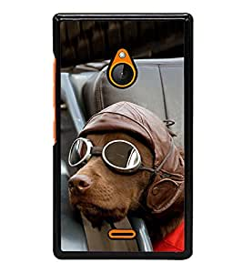 Vizagbeats Dog With Goggles Back Case Cover For Nokia Lumia Xl 540