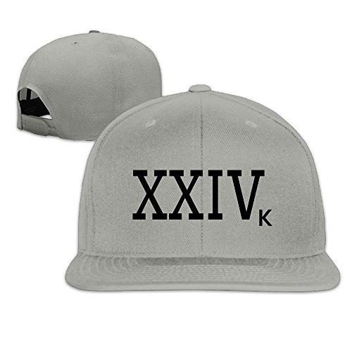 Bruno Mars 24k Magic Unisex Fitted Flat Brim Solid Baseball Cap & Hat (Bruno Mars Hat)