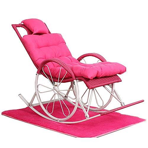 Feifei Schaukelstuhl Wicker Chair Outdoor Recliner Faltbarer Lounge-Sessel Multifunktionsverstellbare Sonnenliege (Farbe : 07)