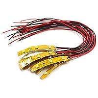 DD03WM NEU 10 Stk. 3-LED Beleuchtung Waggonbeleuchtung 5cm warmweiss mit Kabel