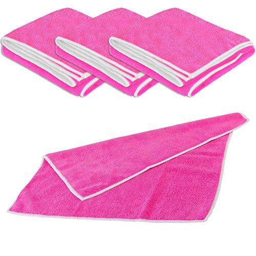 UNIVERSALTUCH pink 4er SET 40 x 40 cm – 300 g/m³ (7472) -- Microfaser Mikrofasertuch Allzwecktuch Reinigungstuch Putztuch Staubtuch -...