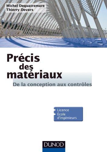 Précis des Matériaux - De la conception aux contrôles