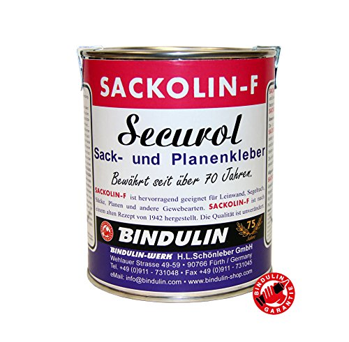 Sackolin-F Colla trasparente in barattolo, 630 g, ideale per tessuti, impermeabile, perfetta per incollare tele dei sacchi, teloni nautica, vecchi teloni per camion, (juta) e altri tipi di tessuto