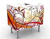 Apalis Design lavabo luglio 60x 55x 35cm, Piccolo, Largo 60cm, Regolabile, lavandino, lavabo, Rubinetto per lavabo da Bagno, Armadio, unità di Base, Bagno, Narrow, Flat