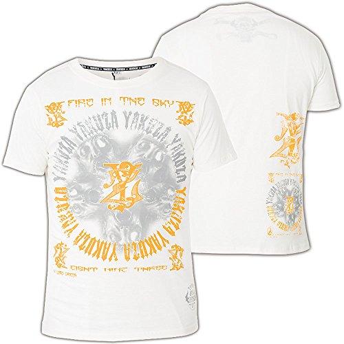 Yakuza T-Shirt TSB-307 Weiß Gelb