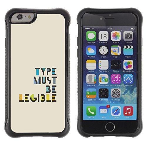 """Graphic4You """"Expect Nothing..."""" Life Proverb Zitat Design Shockproof Anti-Rutsch Weichen Hülle Case Tasche Schutzhülle für Apple iPhone 6 / 6S Design #6"""