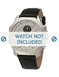 Dolce & Gabbana correa de reloj DW0102 Cuero Negro + costura negro(Sólo reloj correa - RELOJ NO INCLUIDO!)