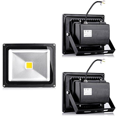 3x30W LED Lampe Scheinwerfer Fluter Licht Warmweiß in Schwarz Flutlicht Innen-Außenstrahler Strahler IP65 wasserdicht Flutbeleuchtung (3)