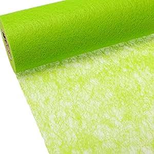 vlies tischband tischl ufer hochzeit 48cm 10m farbe gr n. Black Bedroom Furniture Sets. Home Design Ideas