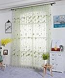 Clode® Art und Weiseblatt Fenstervorhänge feste Farben Fenster Behandlung Verkleidungs Tür drapieren (Grün)