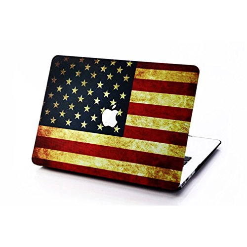 Matt Gummi beschichtet Ultra Slim Light Gewicht Hard Kunststoff Laptop-Hülle, Top und Bottom Cover Shell für Apple MacBook Air 29,5 cm Fall - (f4 m6, 29,5 cm) - Stars Scrub Top
