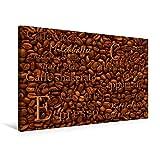 Calvendo Premium Textil-Leinwand 75 cm x 50 cm Quer, Kaffeezubereitungen | Wandbild, Bild auf Keilrahmen, Fertigbild auf Echter Leinwand, Leinwanddruck: Kaffeebohnen und Rezepte Lifestyle Lifestyle