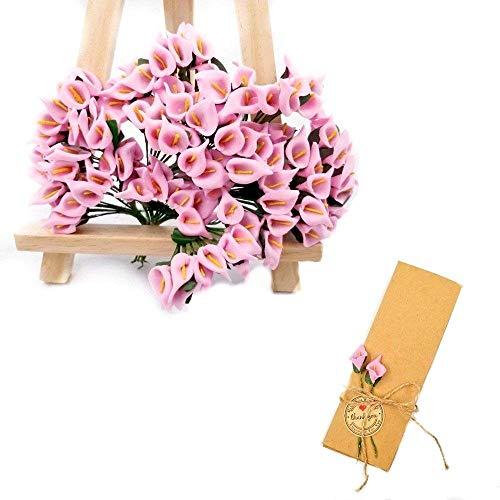 Jzk 144 piccolo bouquet calla finta rosa fiore finti fiorellini bomboniera decorazione scatola confetti regalo matrimonio compleanno battesimo natale