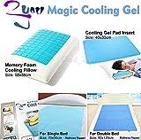 Magic Cooling Gel Blue Cool Pad Mat Orthopedic Mattress Topper Small Large Pet (Cooling Gel Pillow Insert (MAT))