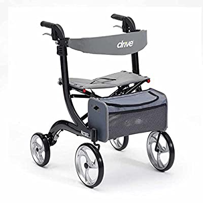 Drive Black Nitro Wheel Rollator with Backrest, Seat and bag (Eligible for VAT relief in the UK)