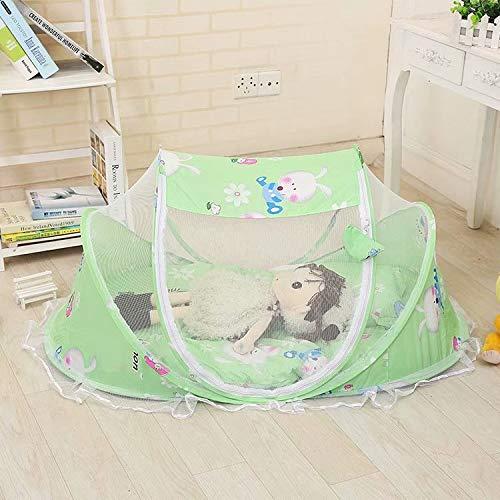 SANDIN Faltbar Baby Travel Krippe mit Moskitonetz Baby Reisebett tragbar Baby Kinderbett Moskitonetz tragbar Babybetten für 0-3 Jahre Baby