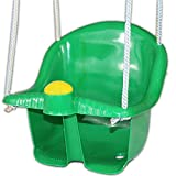 Kids Swing Baby Garden High Back Chair Seat Outdoor Rope Childrens Toddler Tree (Green)