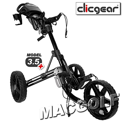2017 Clicgear Model 3.5+ Trolley Golf Pushcart Black