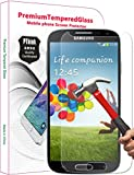 PThink® 0.3mm Ultra-thin Tempered Glass Screen Protector for Samsung Galaxy S4 with 9H Hardness/Anti-scratch/Fingerprint resistant (Samsung Galaxy S4)
