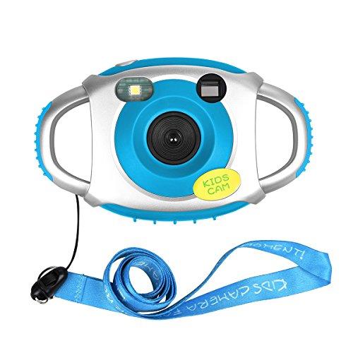 Miavogo Digitalkamera Camcorder Kamera für Kinder 1.44 Zoll TFT Bildschirm 1.3 MP mit Blitzlicht (Blau) Kamera-bilderrahmen