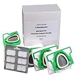 6Sacchetti per aspirapolvere Vorgefaltet in cartone e 6Diffusore a blocchi adatto per Vorwerk Folletto VK 200