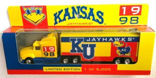 KU Limited Edition Collector DIECAST Semi Truck Offically Licensed KANSAS JAYHAWKS (1998) by University of Kansas Jayhawks (Collectibles Rose White)