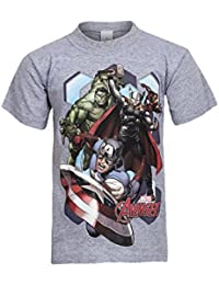 Kids New Marvel Avengers T Shirt Graphic Print Top Short Sleeve Crew Neck Top