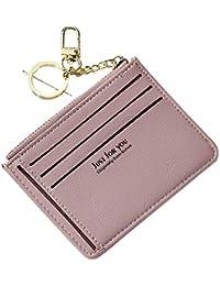 d92a3903f8 FeiyanfyQ Fashion Lettere Design Donne Ecopelle Portamonete portatessere  Zipper Bag Lotus Pink