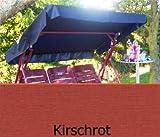 Sonnendach, Schaukeldach, Ersatzdach Hollywoodschaukel, nach Maß passt überall Farbe kirschrot (ohne umnähten Kanten)