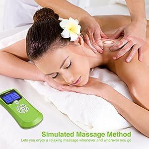 AVANTEK Electro Estimulador Digital Masaje Dispositivo de electroestimulación, 8 Modos y 4 Almohadillas