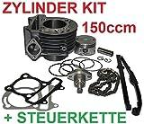 Unbranded 150ccm Tuning Zylinder + STEUERKETTE KOMPLETT für KREIDLER Hiker Galactica 125 Zylinderkit