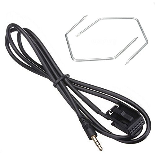 SODIAL Auto 3,5 mm Aux In Input Adapter Kabel 3,5 Jack Universal Aux Lead Cord + Demontage Werkzeuge Fuer Vauxhall iPhone MP3 CD30 Iphone Auto-jack