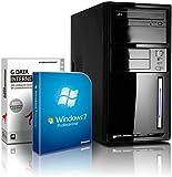shinobee Flüster-PC Quad-Core Office/Multimedia PC Computer mit 3 Jahren Garantie! inkl. Windows7 Professional - INTEL Quad Core 4x2.41 GHz, 8GB RAM, 128GB SSD, Intel HD Graphics, HDMI, VGA, DVD±RW, Office, USB 3.0 #4894
