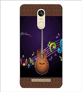 PrintDhaba Guitar D-3183 Back Case Cover for XIAOMI REDMI NOTE 3 PRO (Multi-Coloured)