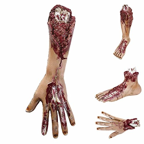 Abgetrennte Gliedmaßen Verstümmelte blutige Arme Arm Abgehakter Arm Halloween Körperteile Halloweendekoration gruselig Abgerissenes Körperteil mit Wunden Horror Stumpf mit (Arm Körperteile)