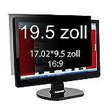 Xianan 19.5 Zoll Widescreen 16:9 Displayfilter Blickschutzfilter Blickschutzfolie Blickschutz Sichtschutz