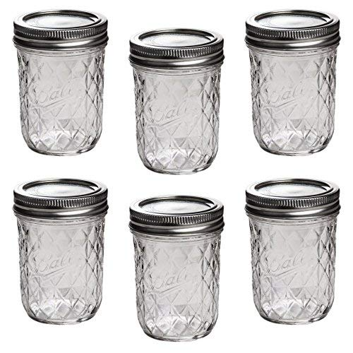 Ball Mason Quilted Crystal Jelly Jar 8oz/6er Set -