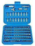 Bohreinsätze-Set, 100 Stück, manipulationssicher, Torx-, Sechskant-, Sicherheitsbits für Schraubendreher, Pozi PH, flach