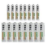 EBL 16 Pack AA AAA Ni-MH...