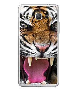 PrintVisa Designer Back Case Cover for Samsung Galaxy E5 (2015) :: Samsung Galaxy E5 Duos :: Samsung Galaxy E5 E500F E500H E500Hq E500M E500F/Ds E500H/Ds E500M/Ds (Dangerous Tiger Ready to attack)