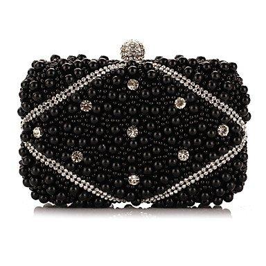 Woman Fashion künstlichen Perlen Oxidation von Zirkon Abend Tasche Black