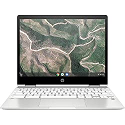 HP Chromebook x360 12b-ca0005nf PC Portable 12'' FHD IPS Blanc (Tactile, Intel® Celeron® N4000, 4 Go de RAM, 32 Go de Stockage, Carte graphique Intel® UHD 600, AZERTY, Chrome OS)