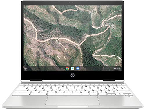 HP Chromebook x360 12b-ca0005nf PC Portable 12'' FHD IPS Blanc (Tactile, Intel Celeron N4000, 4 Go de RAM, 32 Go de Stockage, Carte graphique Intel UHD 600, AZERTY, Chrome OS)