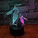 3D Illusion Lampnew Penguin Mom and Child 3D Vision Night Lights Colorful Touch Stereo Led Lights Gift Lights