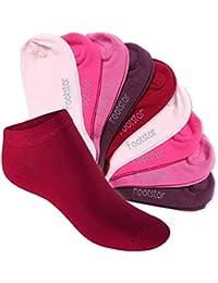 Footstar 10 paia di calze da ginnastica per bambini e bambine SNEAK IT! - tonalità frutti di bosco