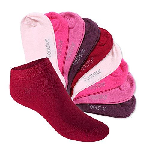 Footstar Footstar 10 Paar SNEAK IT! KIDS Kinder Sneaker Socken für Mädchen & Jungen Berrytöne-27-30